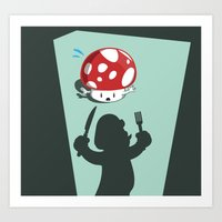 Oh no! It's Mario! Art Print