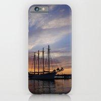 Schooner At Sun Rise iPhone 6 Slim Case