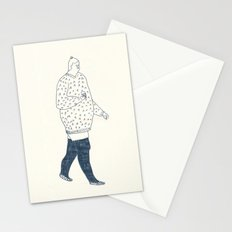 girl with an ice cream Stationery Cards