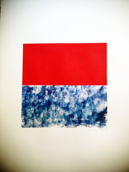 SKY/ORG Art Print