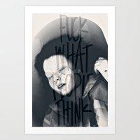Oh, Naive Little Me Art Print