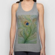Peacock Feather Unisex Tank Top