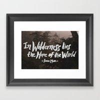Wilderness Hope X John M… Framed Art Print