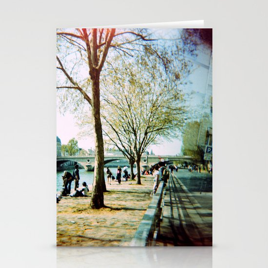 Paris in the Spring Time Stationery Card