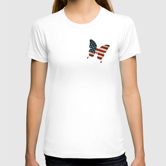 butterfly Stars and Stripes T-shirt