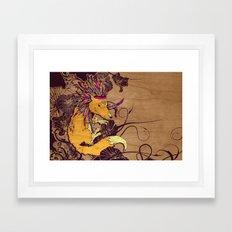 Spirit Happy Fox Framed Art Print