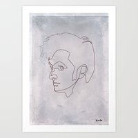 One Line Doctor Who: David Tennant Art Print