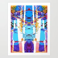 Colored Window Art Print