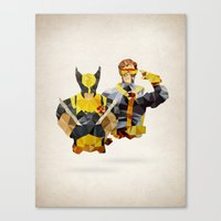 Polygon Heroes - Xmen Canvas Print