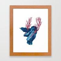 Her Arms Became Trees Framed Art Print