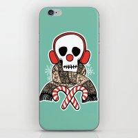 Stay Warm Holiday Skull iPhone & iPod Skin