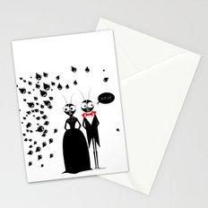 Mr.&Mrs. Black Stationery Cards
