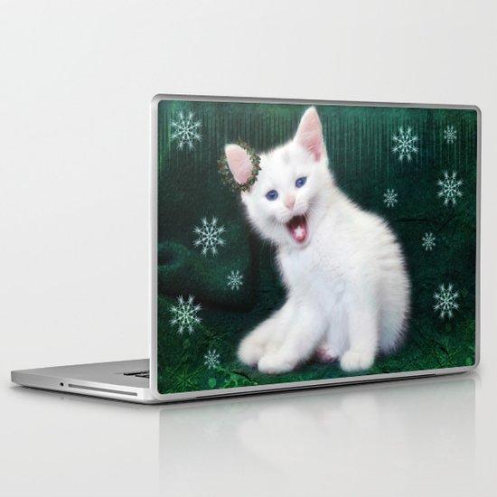 Catching Snowflakes Laptop & iPad Skin
