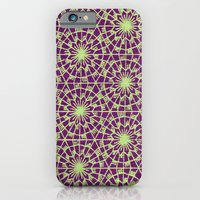 iPhone & iPod Case featuring geometric vintage purple/green by threequalsquare