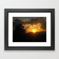Silhouette Sunset Framed Art Print