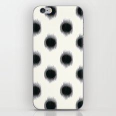 Ikat Dots Black and White iPhone & iPod Skin