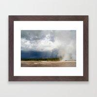 Beautiful Skies Of Yello… Framed Art Print