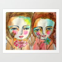 2 Girls Art Print