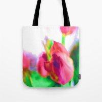 Harborough Tulips - Watercolour Paiting Tote Bag