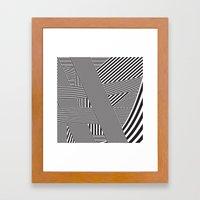 B&W Lines 21/05/14 Framed Art Print