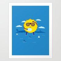 Hot Day  Art Print