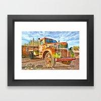 Old Trucks Never Die II Framed Art Print