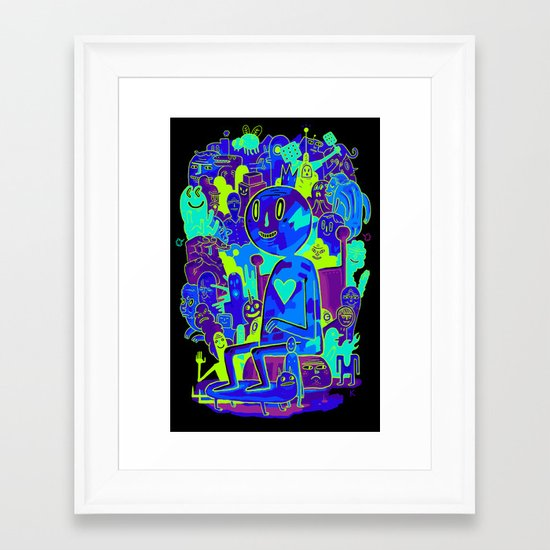 Knee-Jerk Framed Art Print