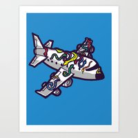 Snakes on a plane, literally   Art Print