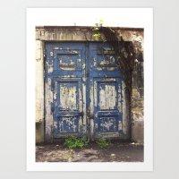 Paris Door at Jardin des Plantes Art Print