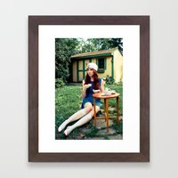 Alice's Tea Party Framed Art Print