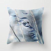 Blue Grass Throw Pillow