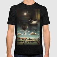 Above, Below, & Beyond Mens Fitted Tee Tri-Black SMALL