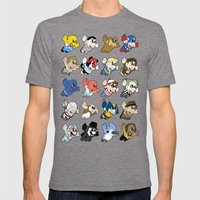 Super: Round 2 Mens Fitted Tee Tri-Grey SMALL