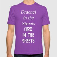 Draenei Vs Orcs Mens Fitted Tee Ultraviolet SMALL
