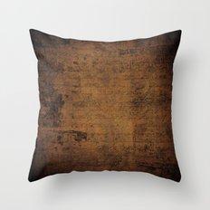 Past Notes Throw Pillow
