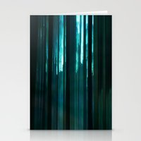 Forest In Emerald Green Stationery Cards