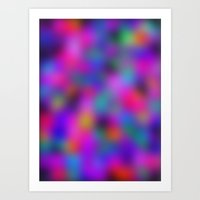 Colourful Blur Art Print