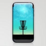 Disc Golf Basket Silhoue… iPhone & iPod Skin