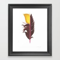 Feather #7 Framed Art Print