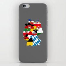 germany regions flag map iPhone & iPod Skin