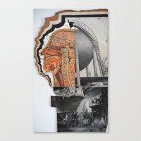 Canvas Print featuring brain by Marisabel Lavastida
