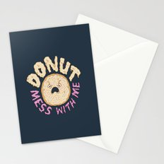 Donut Mess With Me Stationery Cards