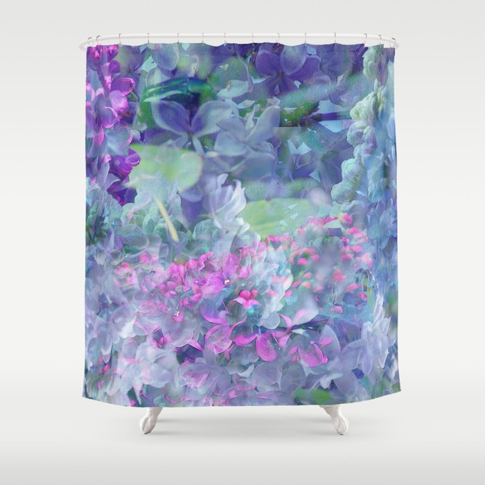 Lilac Bloom Shower Curtain By Klara Acel