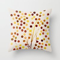 Tree of Life_Amber by Jacqueline and Garima Throw Pillow