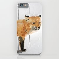 iPhone & iPod Case featuring Smiling Fox by Condor