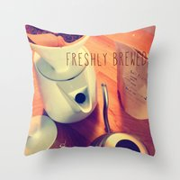 Freshly Brewed Throw Pillow