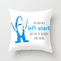 Left Shark Is Right Throw Pillow