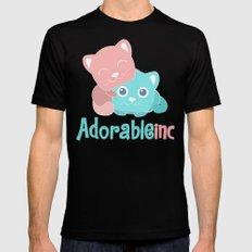 AdorableInc Mens Fitted Tee Black SMALL