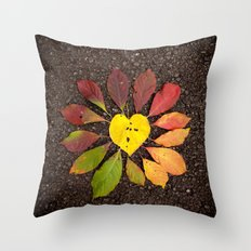 Leaf Love No.3 Throw Pillow
