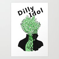 Dilly Idol Art Print